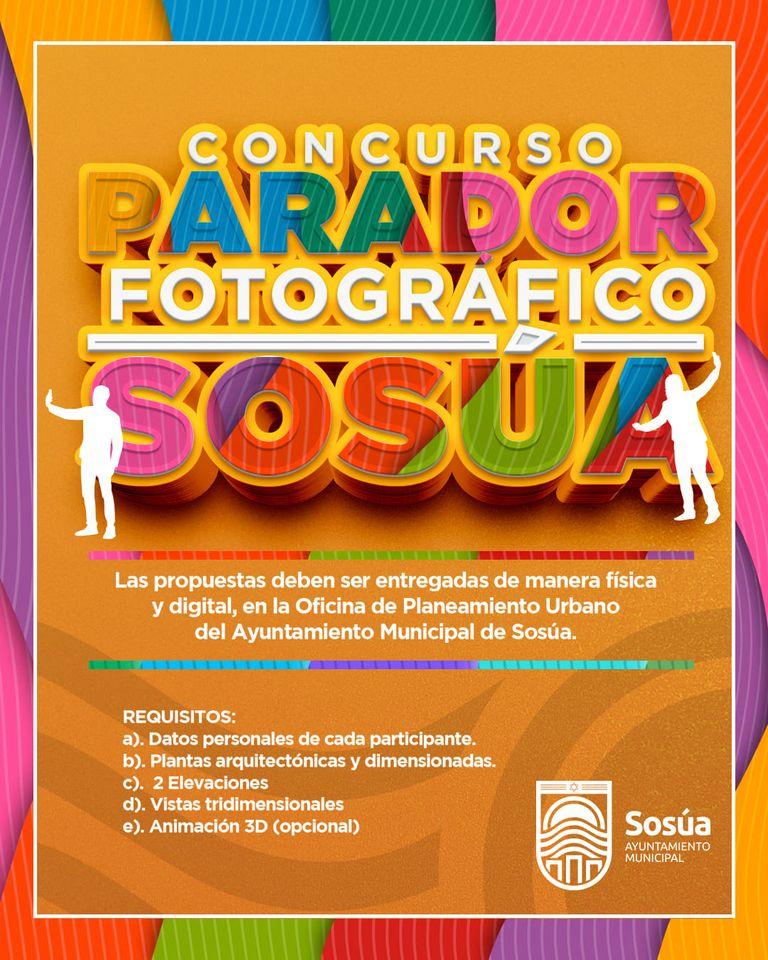 Gran concurso municipal, buscando el mejor diseño del próximo Parador Fotográfico