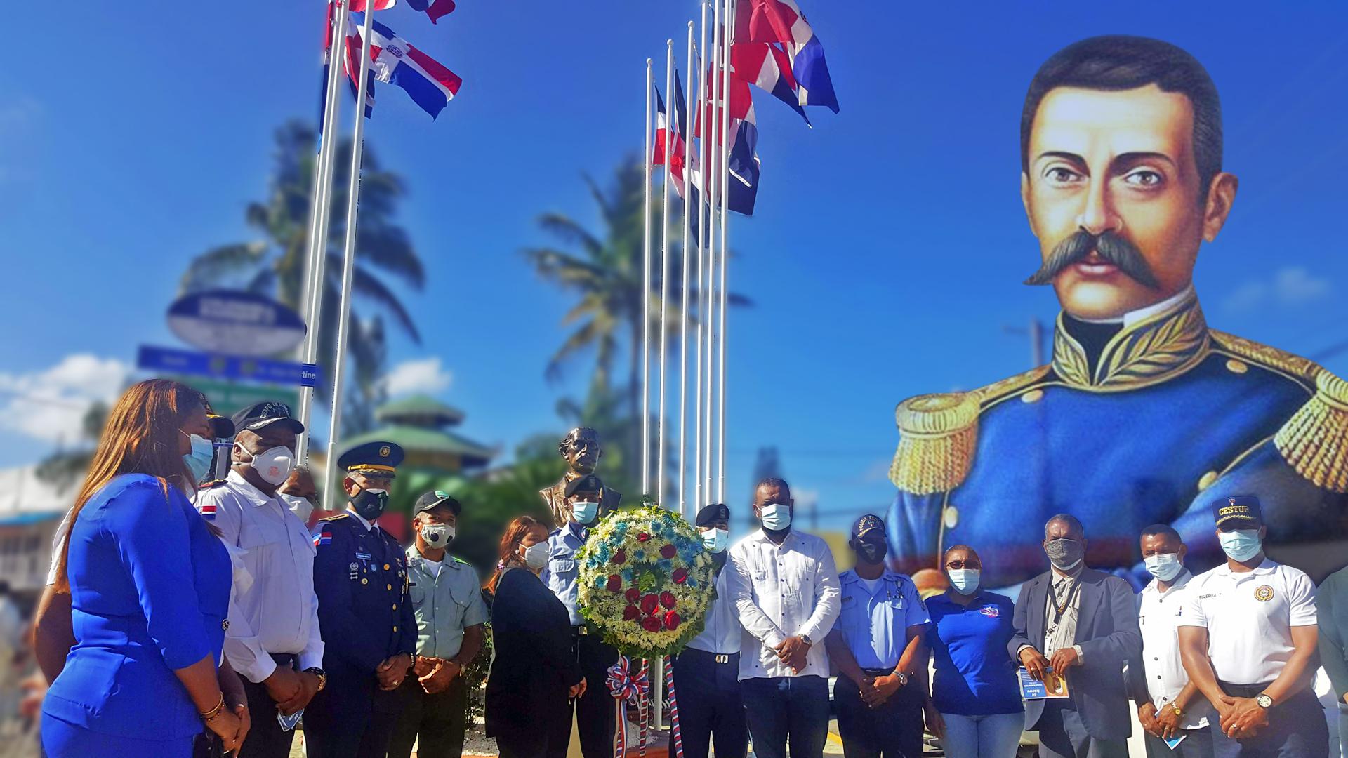 Conmemoración del natalicio de Matías Ramón Mella en el parque las banderas.